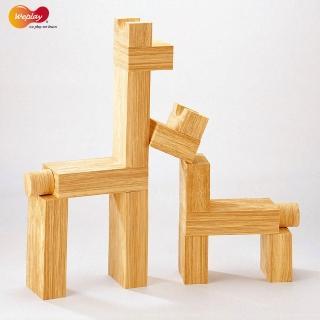 【Weplay】軟質木紋積木 - 30件(STEAM玩具)
