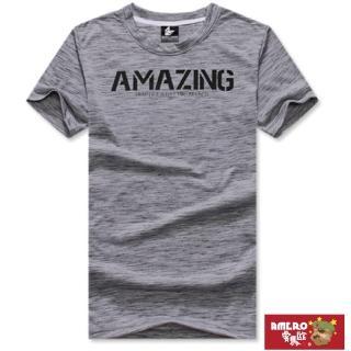 【AMERO】台灣製造 男裝圓領短袖T恤(純棉布料  立體字母LOGO印花 情侶裝 有大尺碼)