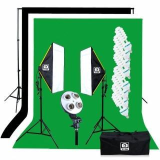 【YIDA】個人攝影棚燈組(攝影棚 攝影燈 背景布 背景架)