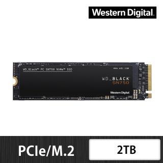 【Western Digital】黑標 SN750_2TB M.2 PCIe 固態硬碟(讀:3470M/寫:3000M)