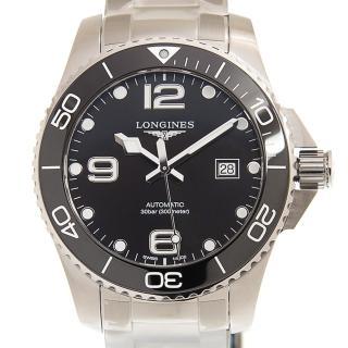 【LONGINES 浪琴】深海征服者陶瓷黑面機械腕錶x43mm(L37824566)