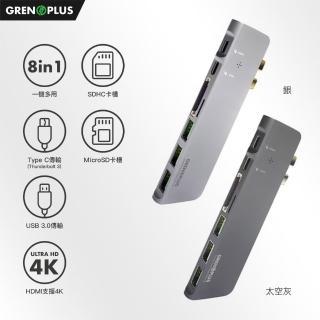 【Grenoplus】USB 3.0 Type-C(八合一多功能Macbook Hub 集線器)