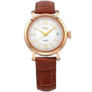 【BOSSWAY】光陰之美時尚腕錶(多色選擇-37mm)