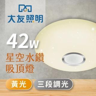【大友照明】LED 星空吸頂燈42W - 黃光(吸頂燈)