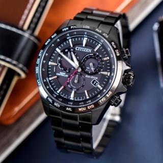 【CITIZEN 星辰】Eco-Drive 宇宙探索電波光動能腕錶/黑(CB5835-83E)