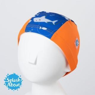 【Splash About 潑寶】Swim Hat 抗UV泳帽(亮橘鯊魚)