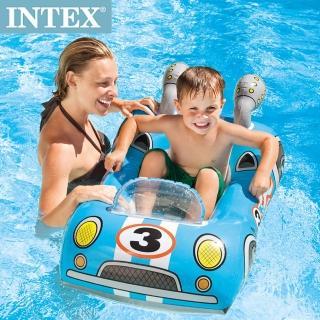 【INTEX】兒童造型游泳圈-車子/飛機/魚(59380)