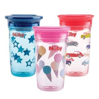 【Nuby】晶透360度喝水杯300ml(3款任選)