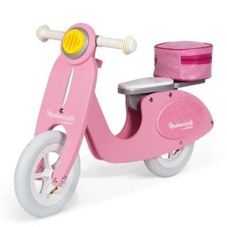【Janod】平衡滑步系列-粉紅淑女摩托車