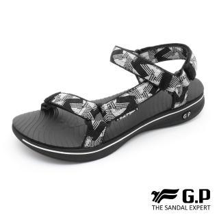 【G.P】極輕量織帶旅行涼鞋G9278W-白黑色(SIZE:36-39 共三色)