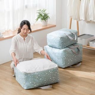 【E.City】棉麻文青風大容量衣物棉被萬用收納袋(大容量材質厚實)