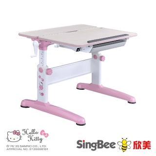 【SingBee 欣美】Hello Kitty-手搖雙板桌(蜜桃粉-HelloKitty)