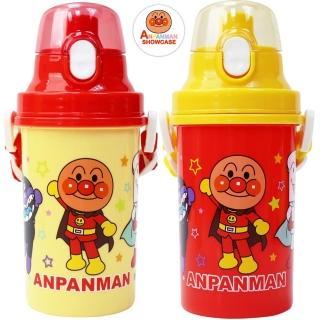 【ANPANMAN 麵包超人】彈蓋式直飲500cc 水壺 附背帶/兒童水壺-隨機(買1送1)