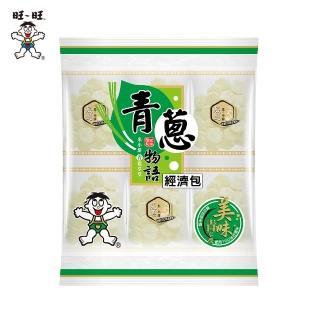 【旺旺】青蔥物語經濟包(240g/包/養生米果米餅/人氣辦公室休閒零食/植物五辛素/非油炸小包裝)