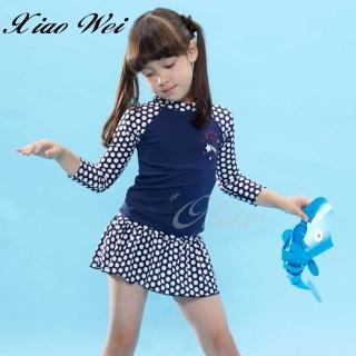 【SARLEE 沙麗】時尚女童二件式長袖泳裝(NO.H19805)