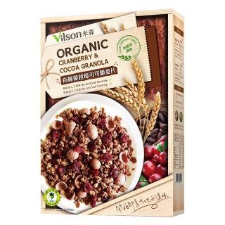 【米森】有機蔓越莓可可脆麥片(350g/盒)