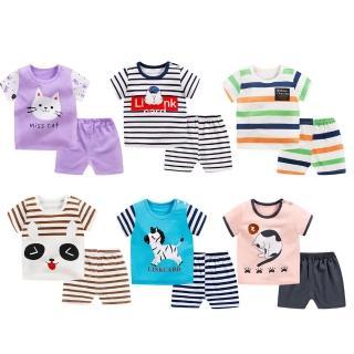 【Baby童衣】兒童套裝睡衣家居服卡通T恤短袖短褲2件套 88113(共7色)
