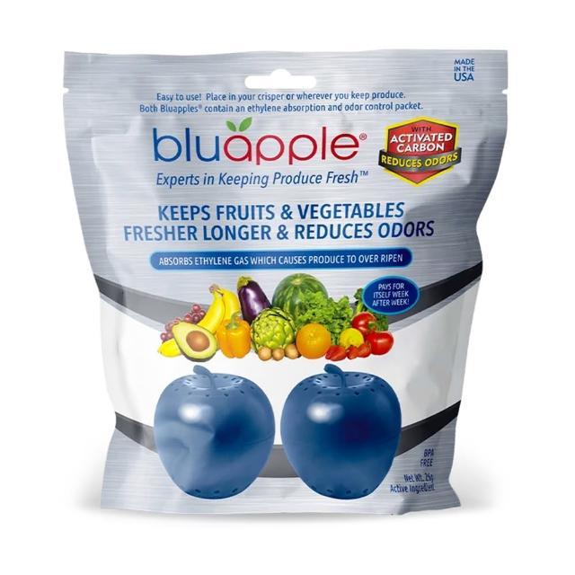 【Bluapple】藍蘋果保鮮+除臭版(兩入組/食物保鮮/冰箱除臭)