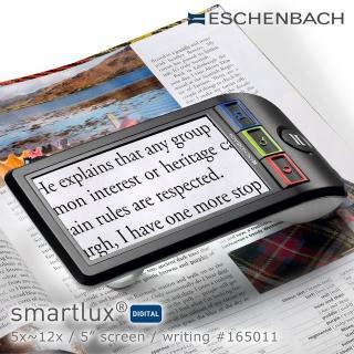 【Eschenbach】smartlux DIGITAL 5x-12x 5吋書寫用可攜式擴視機 電子式放大鏡 165011(公司貨)