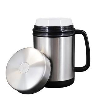304不銹鋼白瓷磁化水杯-450ML