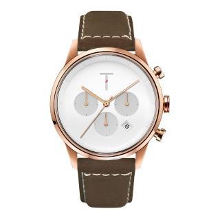 【TYLOR】急速潮流三眼腕錶-咖啡X 玫瑰金(TLAC004)