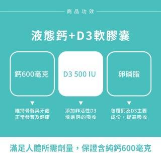 【Sundown 日落恩賜】液態鈣+D3軟膠囊60粒(3瓶組)