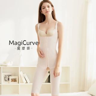 【MagiCurve 魔塑師】GE-014H 高丹尼雙層連身束衣膝上(抽脂術後/產後必穿MagiCurve)