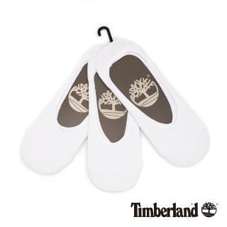 【Timberland】男款白色三入組隱形襪(A1EB8100)