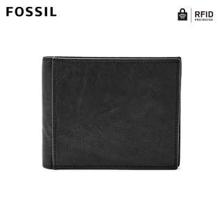 【FOSSIL】Ingram 黑色真皮商務零錢RFID皮夾 男ML3781001