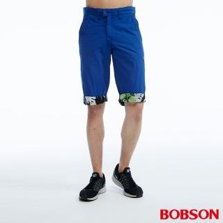 【BOBSON】男款雙面穿短褲(藍233-50)