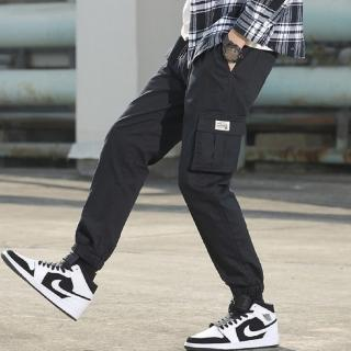 【NBL】L03414韓版鬆緊帶棉質多口袋工作褲(鬆緊帶縮口休閒工作褲)
