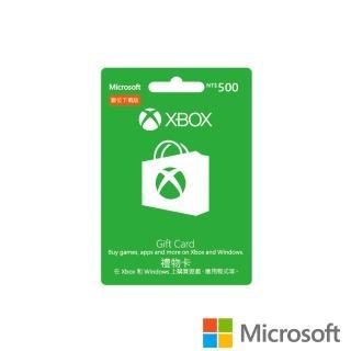 【Microsoft 微軟】XBOX 禮物卡 NT$500 - ESD 數位下載版(可於Windows市集使用)