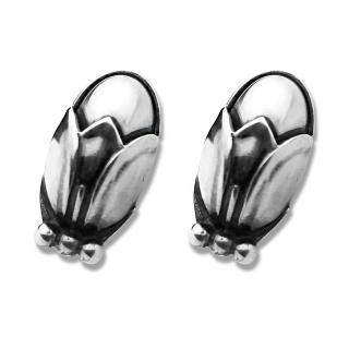 【Georg Jensen 喬治傑生】2011年度銀石夾式耳環