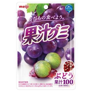 【Meiji 明治】果汁QQ軟糖51g_葡萄口味(軟糖)