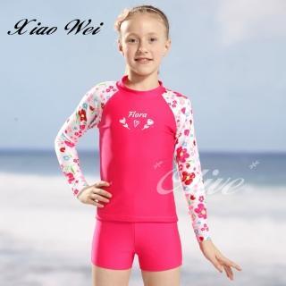 【小薇的店】泳之美品牌女童二件式長袖泳裝(NO.67803)