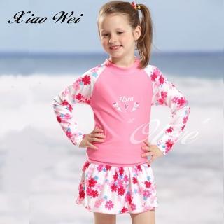 【小薇的店】泳之美品牌女童二件式長袖泳裝(NO.67802)