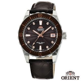 【ORIENT 東方錶】時尚曼哈頓自動上鍊機械腕錶-棕x38.5mm(FAC0A005T0)