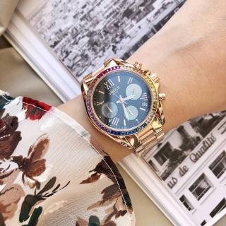 【VOGUE】STUDIO 晶彩璀璨系列計時女錶-36mm(5V1905-121RG-DWM)