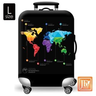 【LittleChili】行李箱套(世界地圖L)
