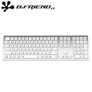 【B.Friend】KB700S 鋁合金雙模有線鍵盤