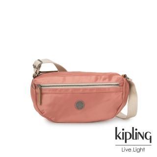 【KIPLING】城市探索玫瑰粉半月側背腰包-SENRA-EDGELAND系列