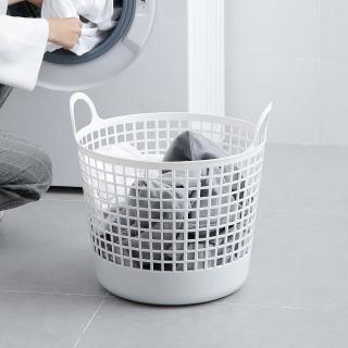 【日本like-it】北歐圓形洗衣收納籃-附手把