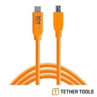 【TETHER TOOLS】CUC2415-ORG TETHER Pro 傳輸線 USB-C TO 2.0 MINI-B 5 PIN(正成公司貨)