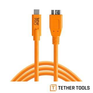 【TETHER TOOLS】CUC3315-ORG TETHER Pro 傳輸線 USB-C to 3.0 Micro-B(正成公司貨)