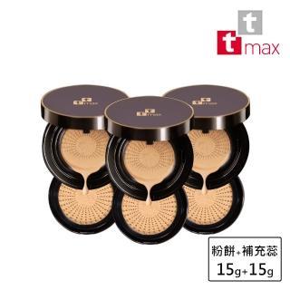 【ttmax】珍珠光感舒芙蕾氣墊粉餅SPF33★★★(3+3超值6件組)