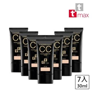 【ttmax】全效完美修飾CC霜 SPF33 PA+++(7件組)
