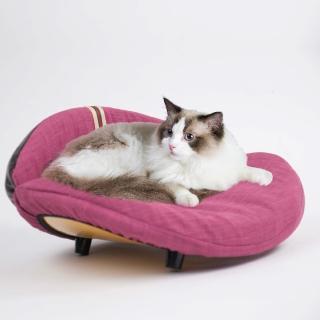 【crazypaws 瘋狂爪子】K.1寵物傢俱 Embrace 抱抱-貓抓布款 小型犬貓舒適沙發床(寵物家具/寵物床/寵物窩)
