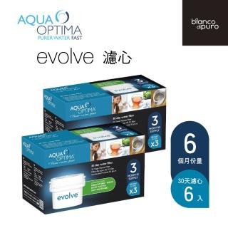 【歐洲 bianco di puro】Aqua Optima Evolve 濾心(6入組)