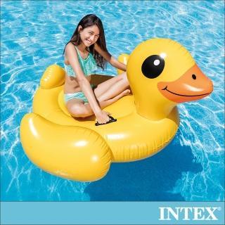 【INTEX】黃色小鴨水上坐騎147x147x81cm_適用3歲以上(57556)