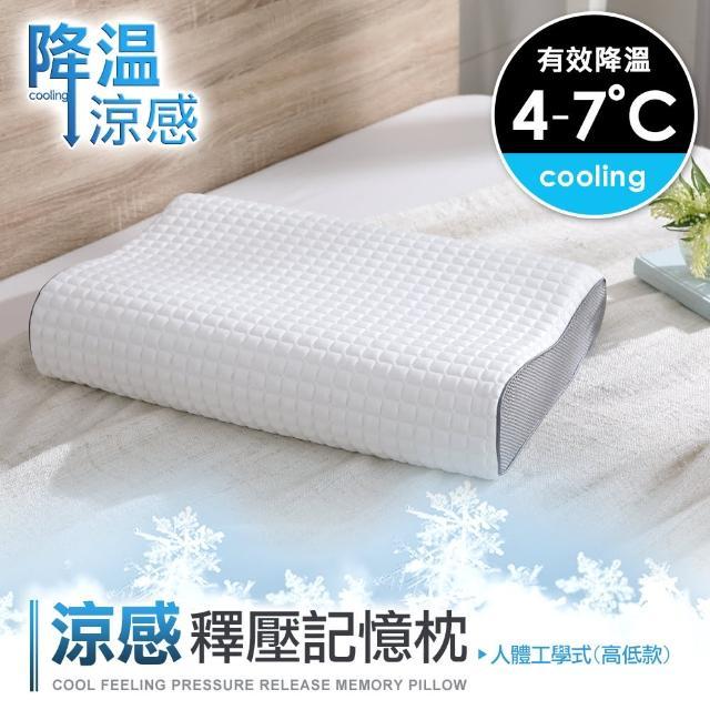 【DON】涼感釋壓記憶枕-單入(兩款任選)/